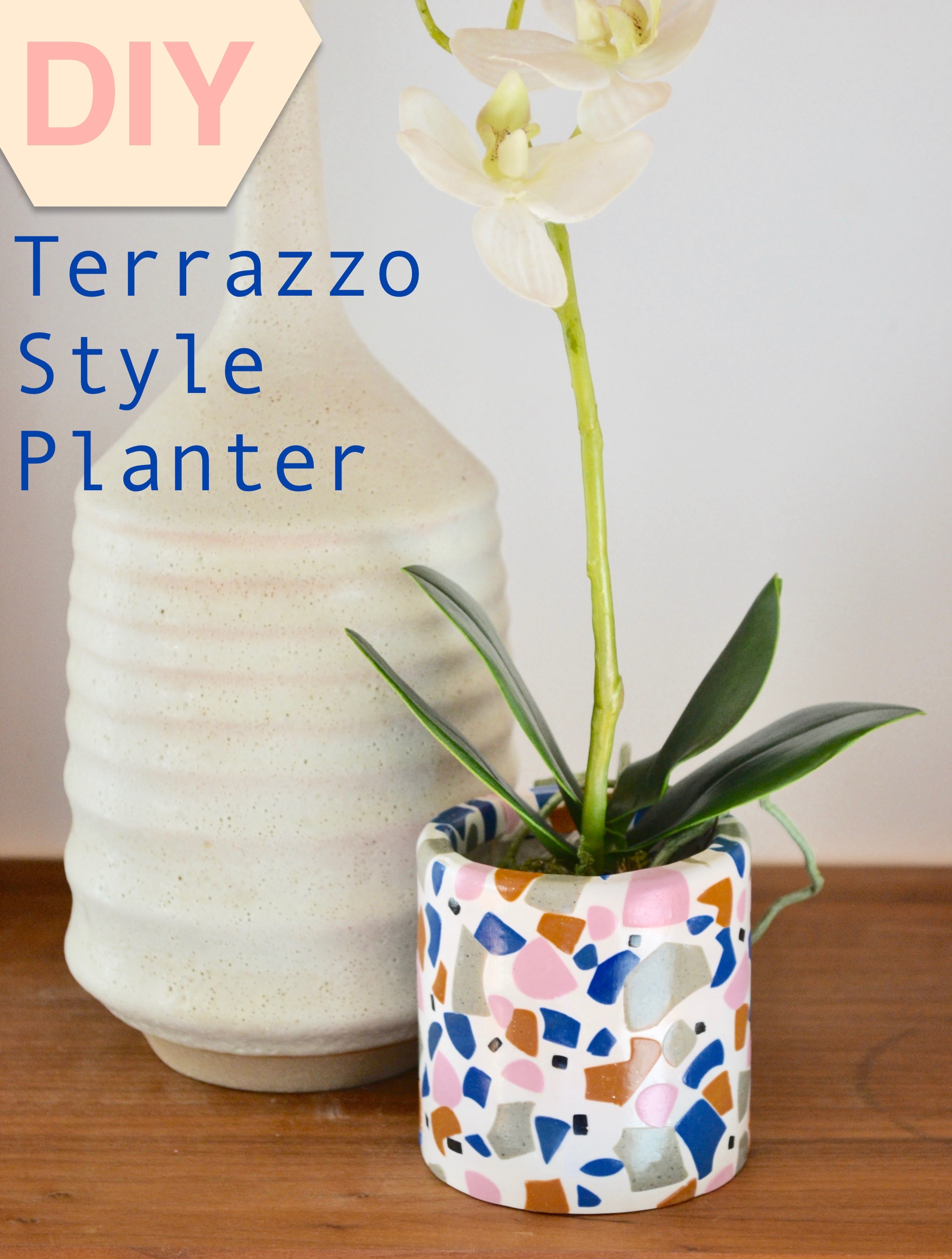Make a DIY Terrazzo Style Planter from Polymer Clay